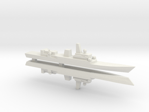 Haijing/CCG-31240 Patrol Ship x2, 1/1800 in White Natural Versatile Plastic