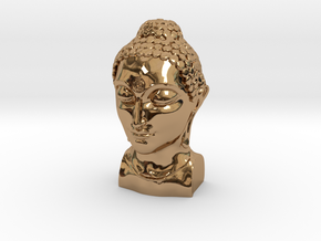 Bust of Buddha in Polished Brass