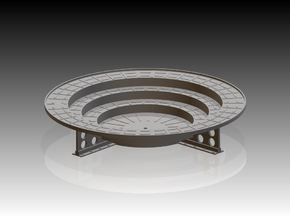 Oerlikon Band Stand 4 supports 1/24 in Smooth Fine Detail Plastic