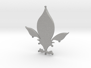 Fleur-de-lys pendant in Aluminum