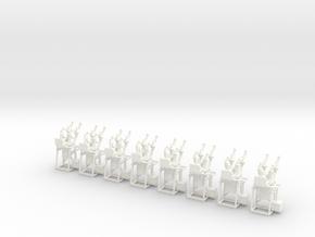 Catenary x8. O Scale (1:43.5) in White Processed Versatile Plastic