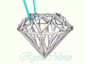 Diamond Pendant in Polished Silver