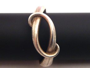 Tentacle Silver Ring in Raw Silver