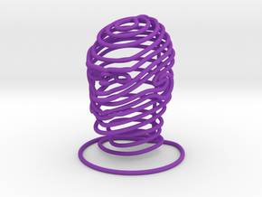 Wired Human Face Extra SMALL in Purple Processed Versatile Plastic
