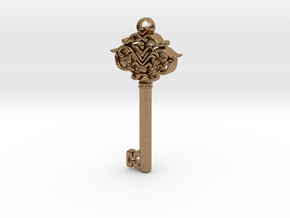 CosmicKey pendant  in Natural Brass