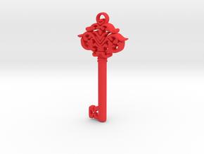 CosmicKey pendant  in Red Processed Versatile Plastic