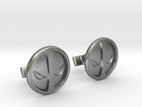 Deadpool Cufflinks in Natural Silver