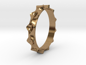 Curve  Pattern Ring- Size 6 in Natural Brass