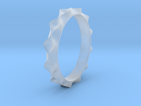 Curve  Pattern Ring- Size 6 in Smooth Fine Detail Plastic