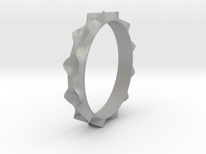 Curve  Pattern Ring- Size 6 in Aluminum