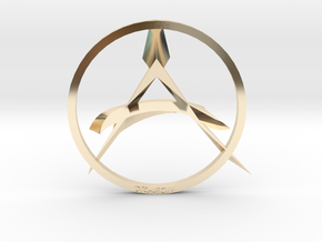 The Dragon Anarchist Pendent in 14K Yellow Gold