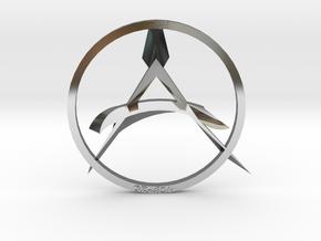The Dragon Anarchist Pendent in Premium Silver