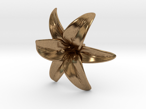 Lily Blossom (large) in Natural Brass