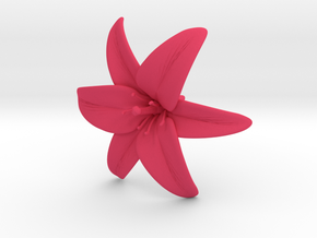 Lily Blossom (large) in Pink Strong & Flexible Polished