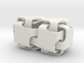 Double-cubes-2 in White Natural Versatile Plastic