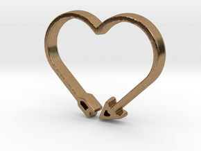 Love Arrow - Amour Collection in Natural Brass