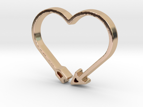 Love Arrow - Amour Collection in 14k Rose Gold Plated Brass