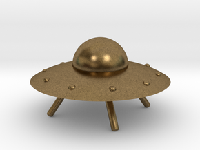 UFO with Landing Gear in Natural Bronze