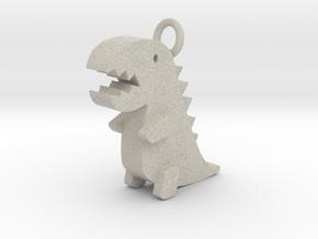 Little Dinosaur Pendant in Natural Sandstone