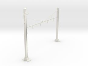 HO Scale PRR K Braced 4 Track STRUCTURE SM in White Natural Versatile Plastic