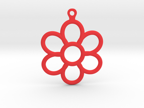 Share Your Smile With Me Sunflower Earrings (Small in Red Processed Versatile Plastic