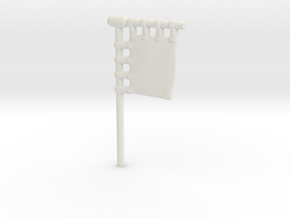 28mm/32mm Customisable Sashimono Flag Short in White Natural Versatile Plastic