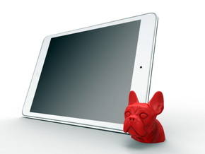 Frenchie IPad/Iphone Dock in Red Processed Versatile Plastic