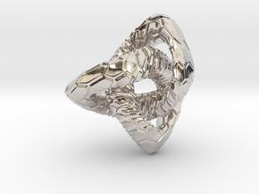 Love Atom , Pendant in Platinum