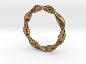 Twisted Bracelet  in Natural Brass