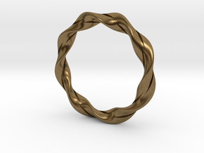 Twisted Bracelet  in Natural Bronze