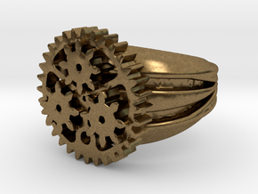 SteamPunk Ring ALFA in Natural Bronze