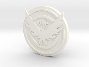 The Division: SHD Clothing Stamp in White Strong & Flexible Polished