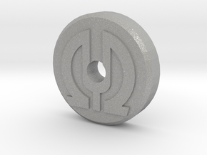 45 RPM Record adapter with Logo Embossed in Aluminum