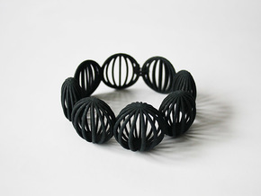 Bracelet Astral nylon in Black Strong & Flexible