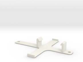 XuGong V2 - EzUHF 4ch Rx Mount in White Natural Versatile Plastic