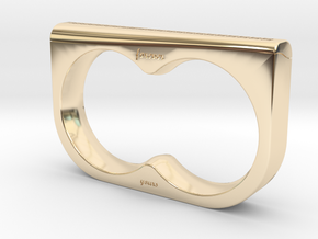 Double Fingered Hex Knot Ring Valentines Day Speci in 14K Yellow Gold