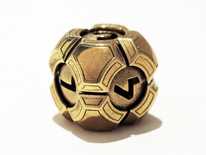 Testudo D6 in Polished Brass