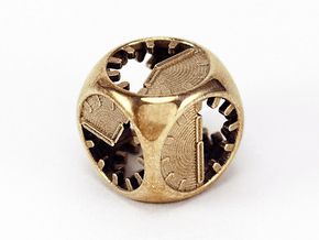 Tick Tock D6 in Polished Brass