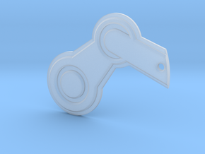 Steam Logo Keychain in Smooth Fine Detail Plastic
