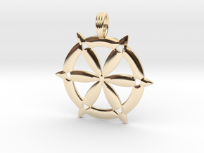 CHISELED SEED OF LIFE in 14K Yellow Gold