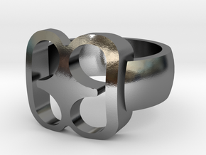 Adinkra Rings - Series 2: Bibi Wo Soro in Polished Silver