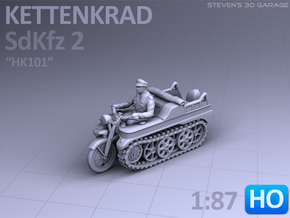 Sd.Kfz 2 - KETTENKRAD (1:87 - HO) in Smooth Fine Detail Plastic