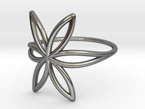 FLOWER OF LIFE Ring Nº7 in Polished Silver