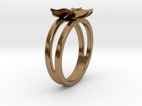 Flower Ring Size 5 in Natural Brass