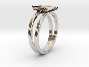 Flower Ring Size 5 in Platinum
