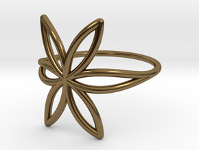 FLOWER OF LIFE Ring Nº7 in Polished Bronze