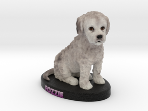Custom Dog Figurine - Fozzie in Full Color Sandstone