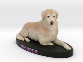 Custom Dog Figurine - Trooper in Full Color Sandstone