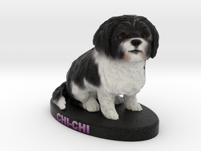 Custom Dog Figurine - Chi-chi in Full Color Sandstone