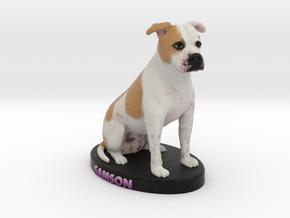 Custom Dog Figurine - Samson in Full Color Sandstone